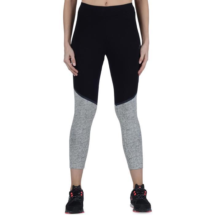 Legging 7/8 FIT+ 500 slim Gym & Pilates femme noir - 1193268