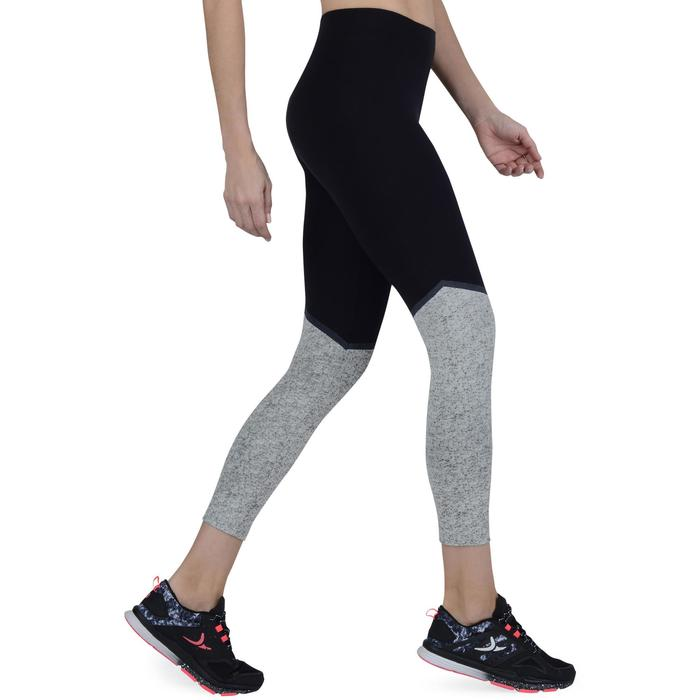Legging 7/8 FIT+ 500 slim Gym & Pilates femme noir - 1193293