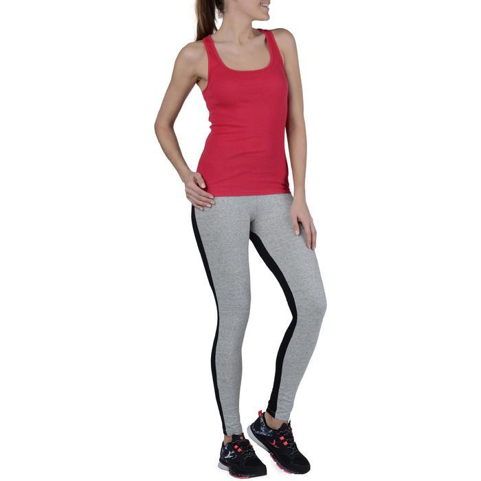 Camiseta sin mangas de gimnasia y pilates mujer rojo oscuro