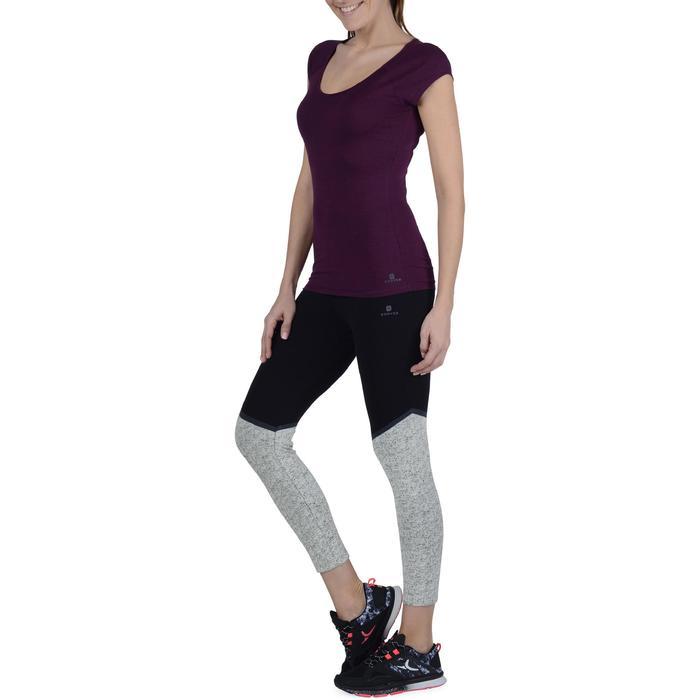 Legging 7/8 FIT+ 500 slim Gym & Pilates femme noir - 1193303