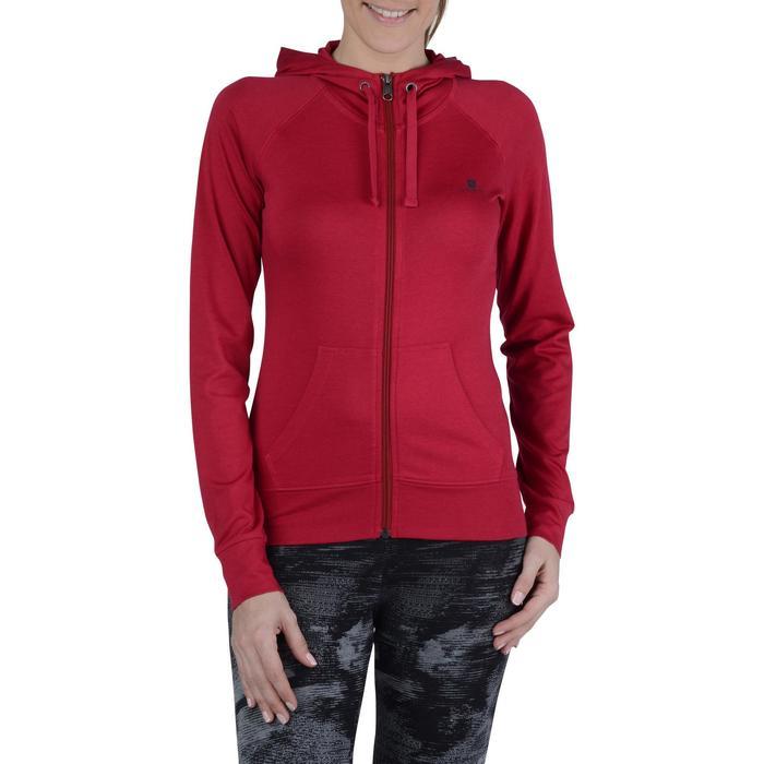 Veste capuche zippée Gym & Pilates femme - 1193336