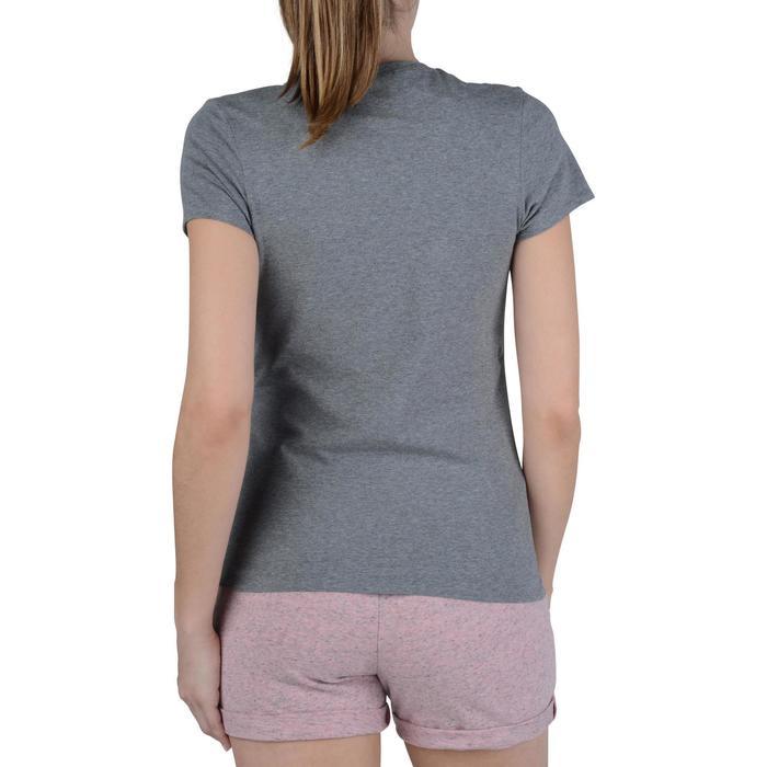 Dames T-shirt met korte mouwen voor gym en pilates gemêleerd - 1193362