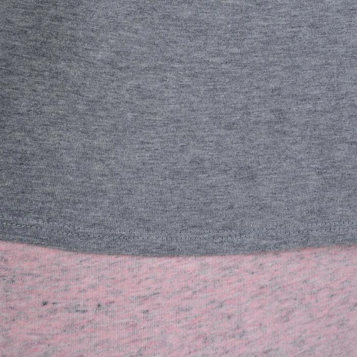 Dames T-shirt met korte mouwen voor gym en pilates gemêleerd - 1193373