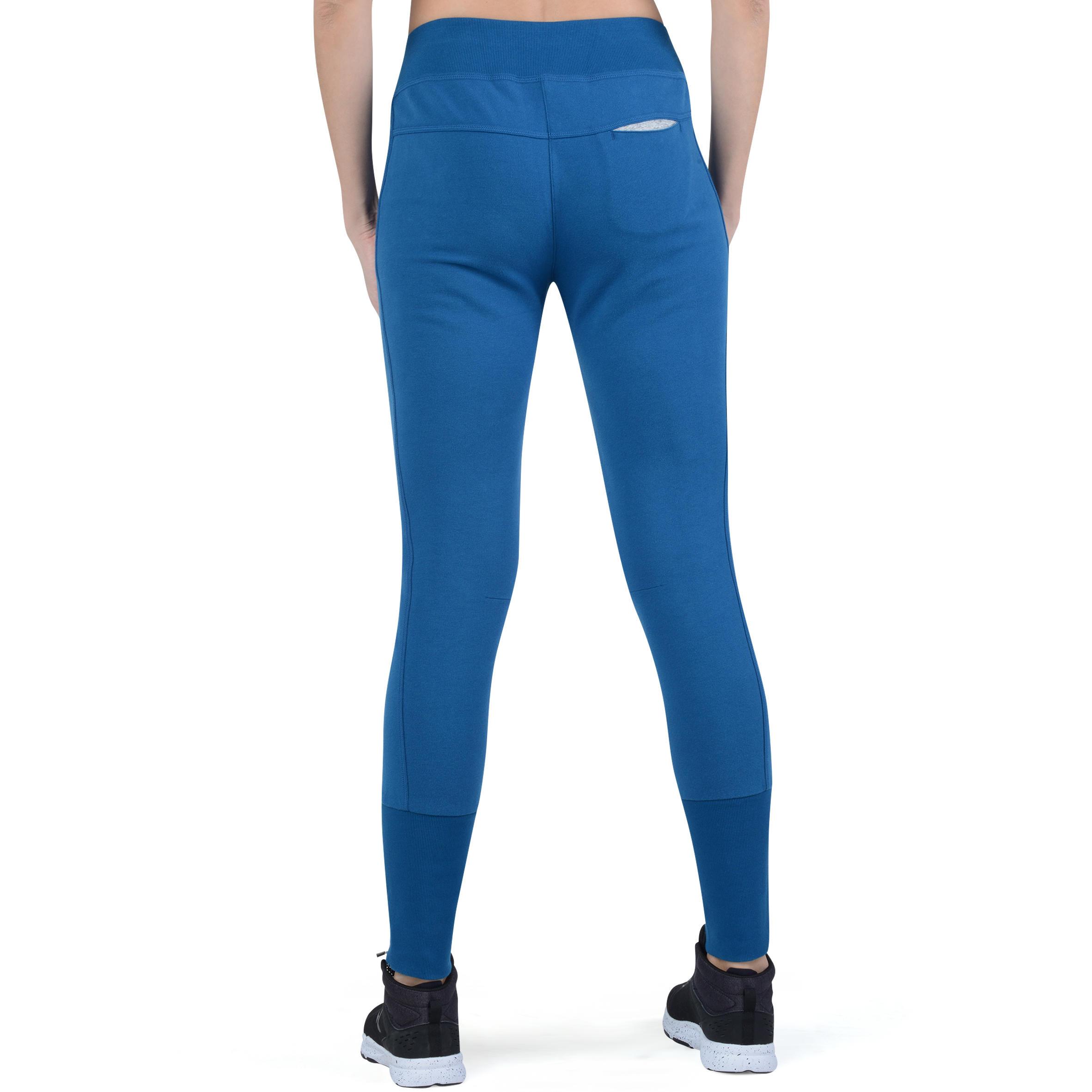 Molleton Pilates Gymamp; Pantalon Canard Bas Zippé Femme Bleu O8wPn0kX