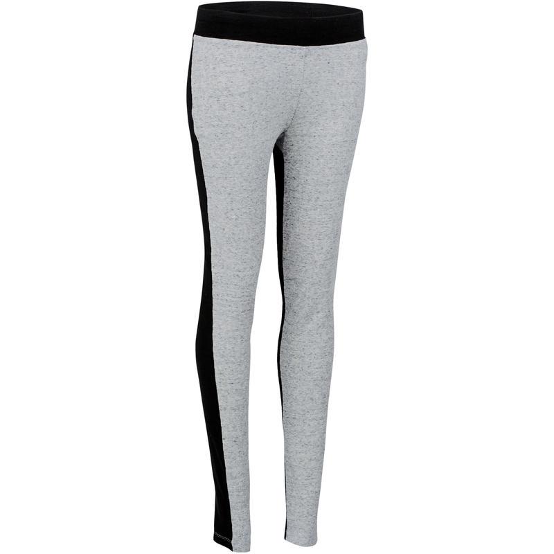 8cc7e7d8fe3bd All Sports>Gym Stretching>Gym Stretching Women's Apparel>Leggings>Women's  Gym & Pilates Leggings - Light Grey/Black