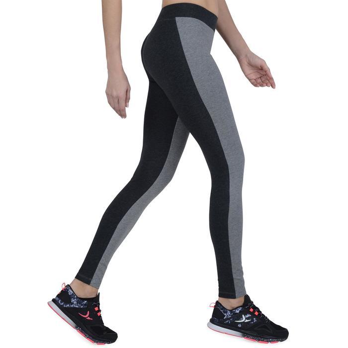 Legging Gym & Pilates femme gris moyen gris foncé - 1193513