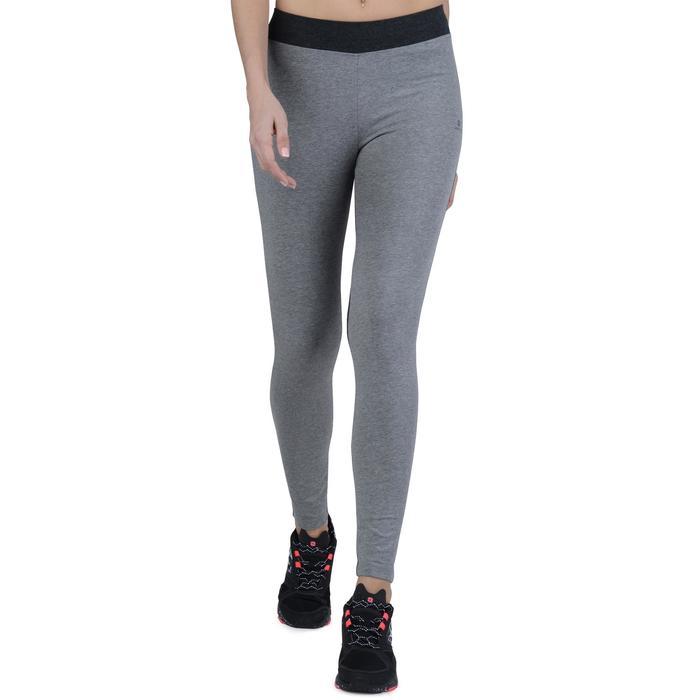 Legging Gym & Pilates femme gris moyen gris foncé - 1193516