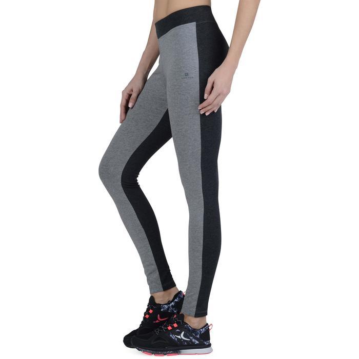 Legging Gym & Pilates femme gris moyen gris foncé - 1193541