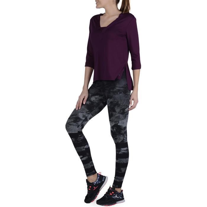 Dameslegging voor gym en pilates, slim fit - 1193613