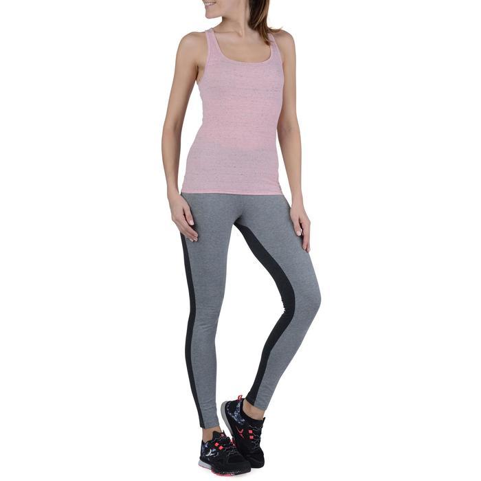 Legging Gym & Pilates femme gris moyen gris foncé - 1193618