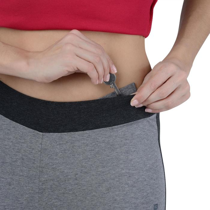 Legging Gym & Pilates femme gris moyen gris foncé - 1193638
