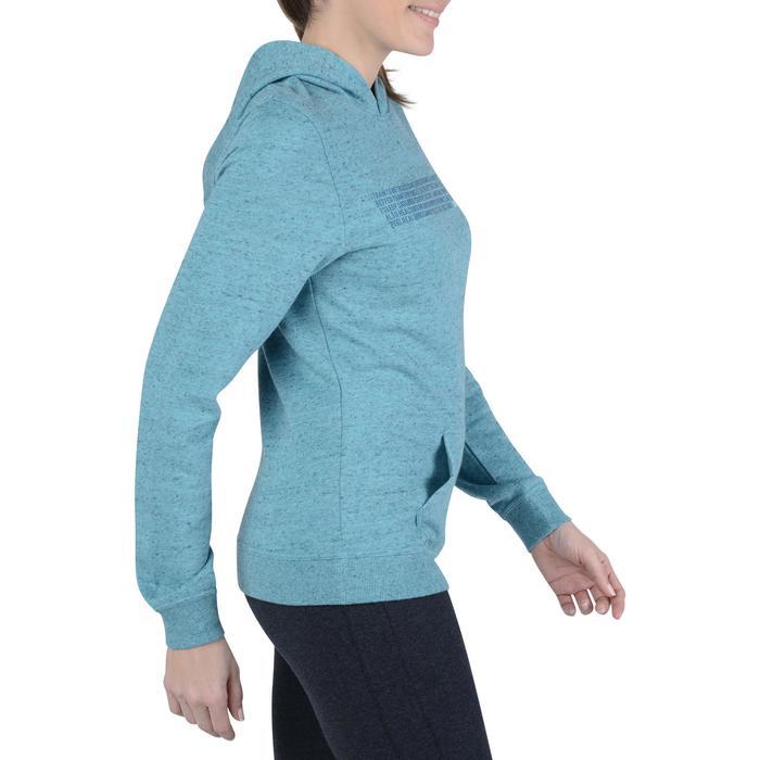 Sweat capuche Gym & Pilates femme turquoise effet neps