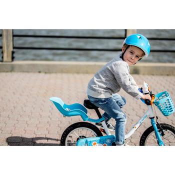 Stevig poppenstoeltje voor kinderfiets blauw