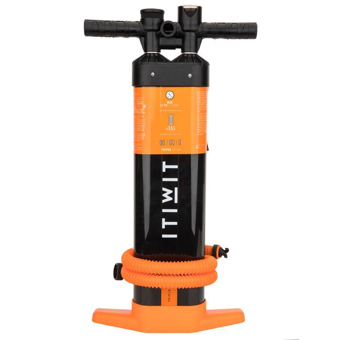 Handpomp met hoge druk voor supboard 20 psi drievoudige actie zwart oranje