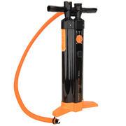 Črna in oranžna tlačilka za SUP desko s trojnim delovanjem (20 PSI)