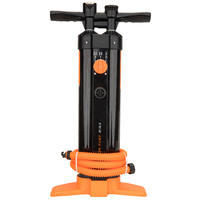 Stand-Up Paddle Triple Action High-Pressure Hand Pump 20 psi - Black Orange