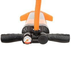 3向20 psi高壓立式划槳手壓打氣筒-橘黑配色