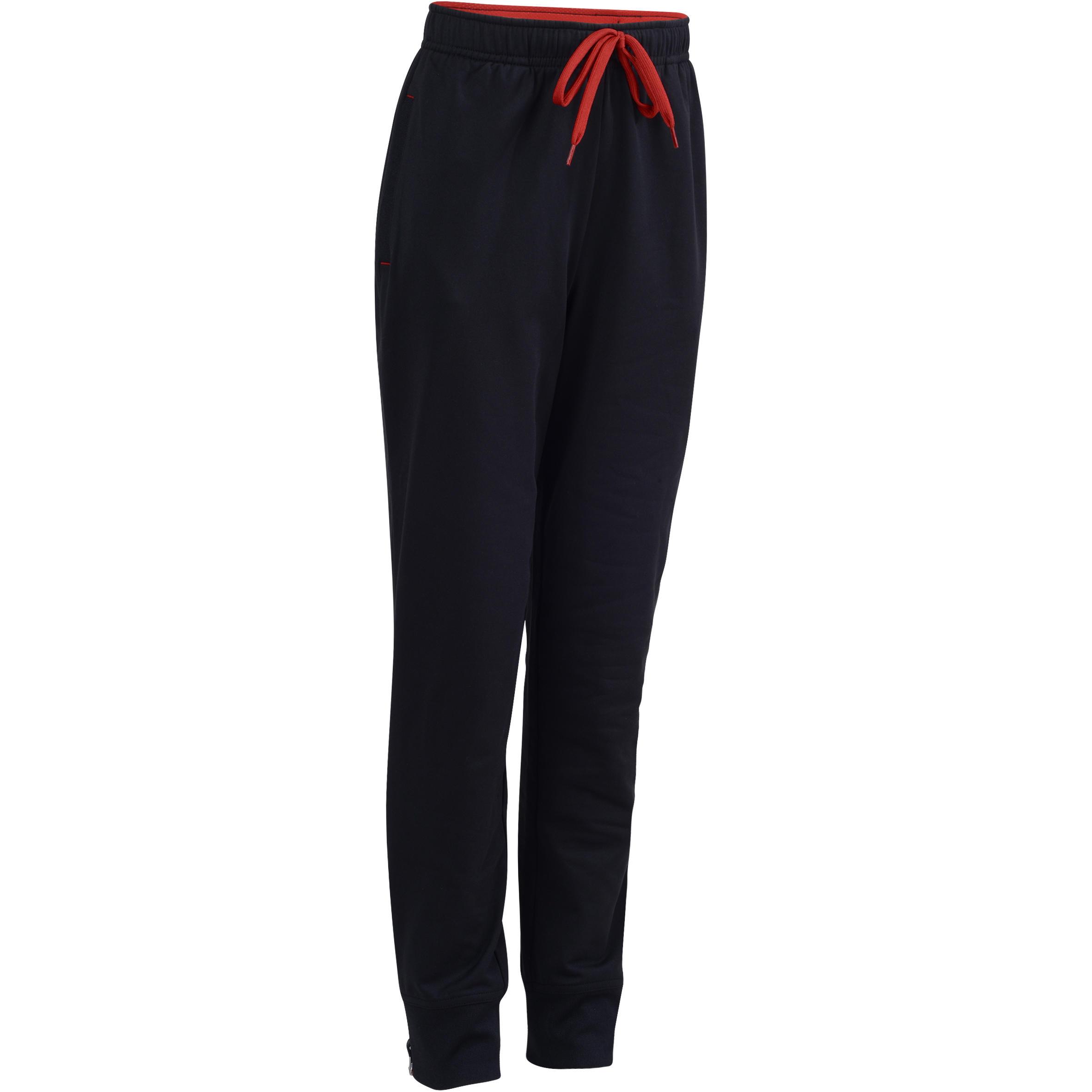 Pantalón 580 cálido slim gimnasia niño negro rojo