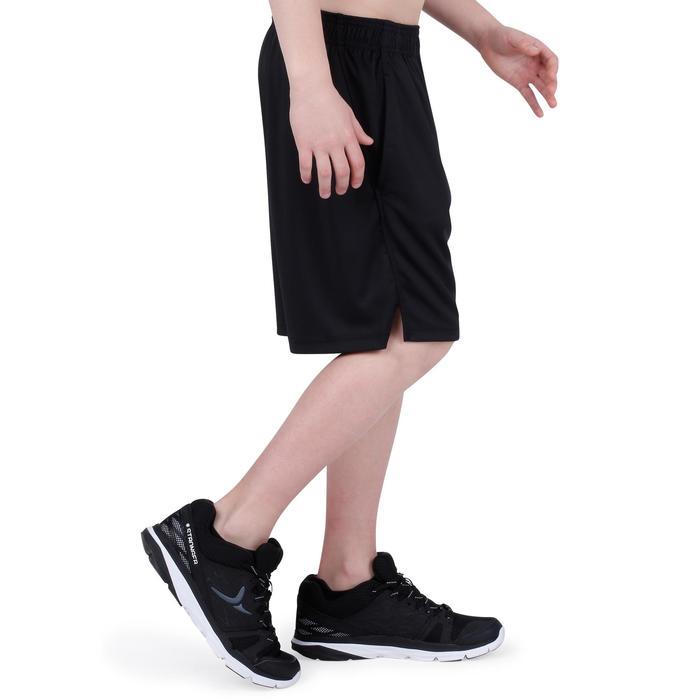 Pantalón Corto De Gimnasia Domyos S500 Transpirable Niño Negro