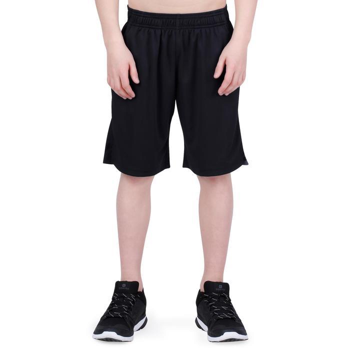 Gymshort S500 voor jongens zwart
