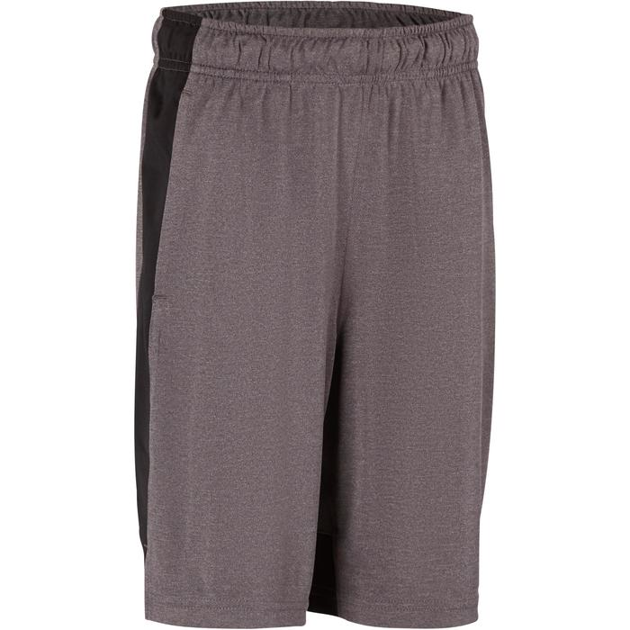Short Fitness garçon gris - 1193968