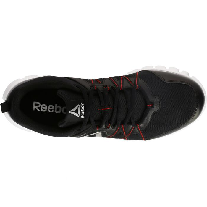 Chaussures marche sportive homme Yourflex noir / rouge - 1194010