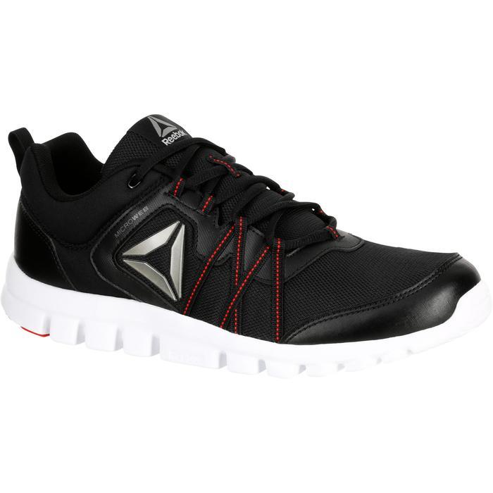 Chaussures marche sportive homme Yourflex noir / rouge