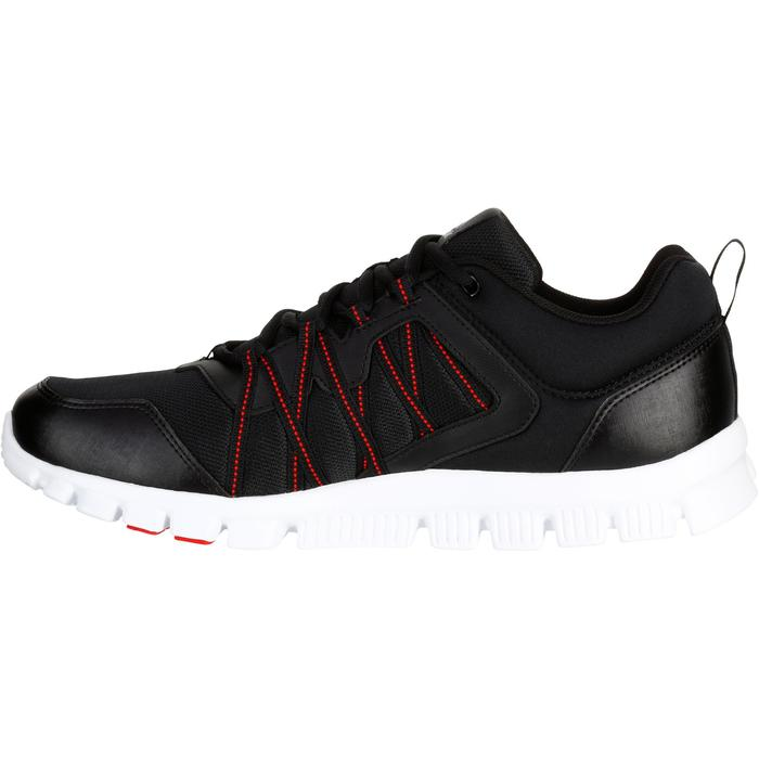 Chaussures marche sportive homme Yourflex noir / rouge - 1194029