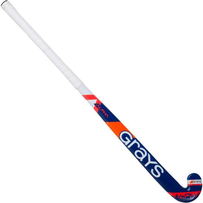 Crosse de hockey sur gazon enfant en bois Alpha orange et bleue - 1194078