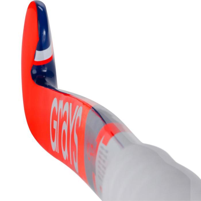 Crosse de hockey sur gazon enfant en bois Alpha orange et bleue - 1194079