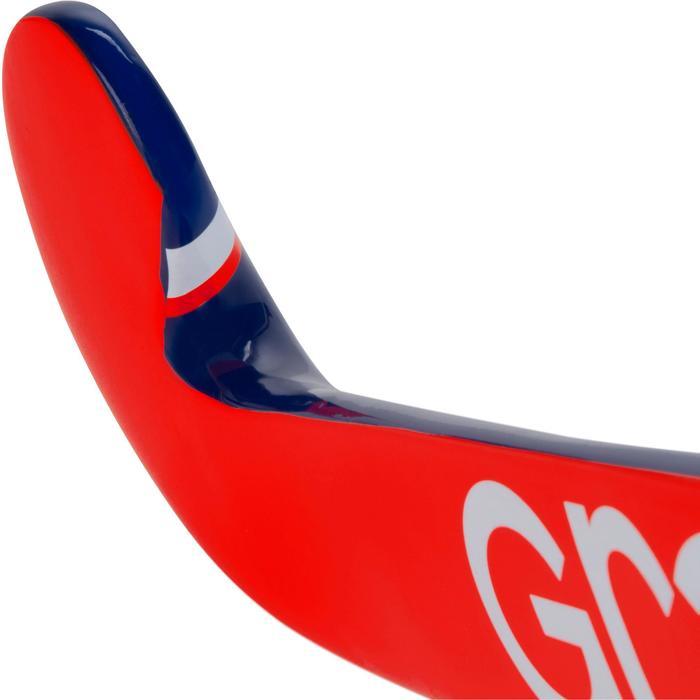 Crosse de hockey sur gazon enfant en bois Alpha orange et bleue - 1194081
