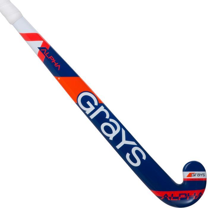 Crosse de hockey sur gazon enfant en bois Alpha orange et bleue - 1194084