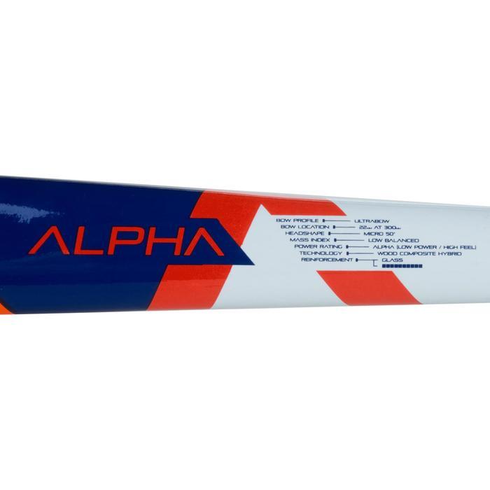 Crosse de hockey sur gazon enfant en bois Alpha orange et bleue - 1194085