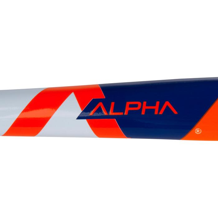Crosse de hockey sur gazon enfant en bois Alpha orange et bleue - 1194087