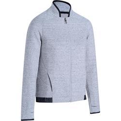 女款健身外套900 - 雜灰色