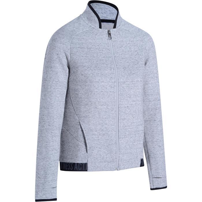 Veste 900 Gym & Pilates femme sans capuche gris effet neps - 1194170