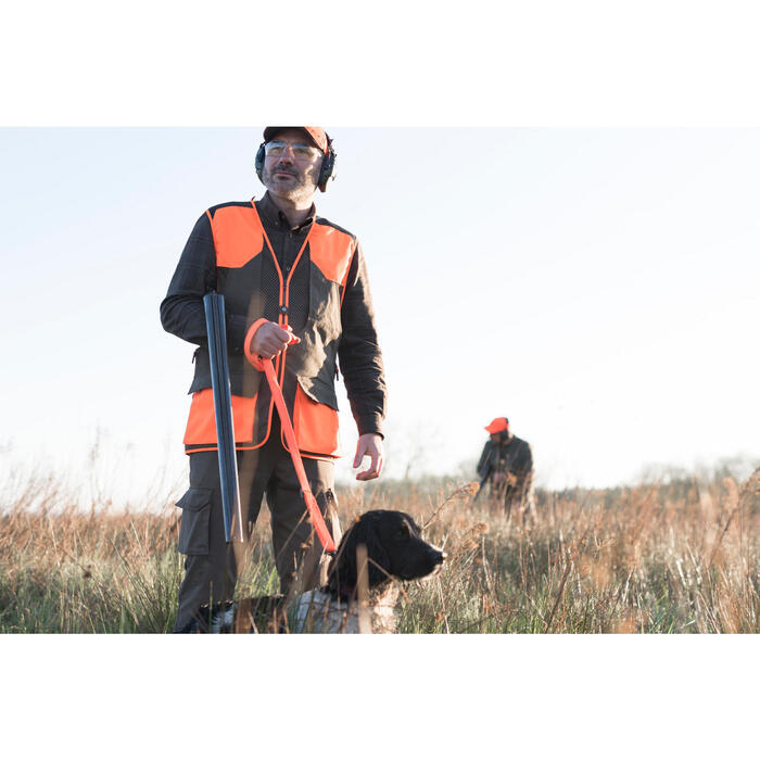 Gilet chasse 520 marron fluo - 1194227