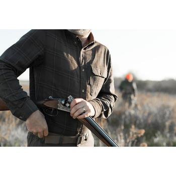 Jagd-Langarmhemd warm 500 braun
