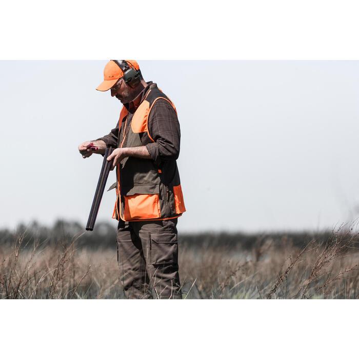 Gilet chasse 520 marron fluo - 1194231