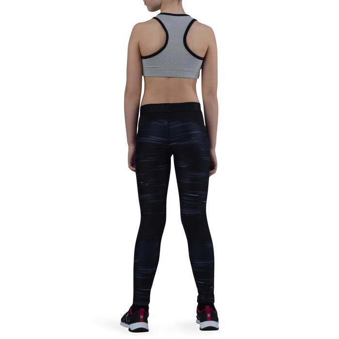 Brassière 500 Gym Fille gris noir - 1194276