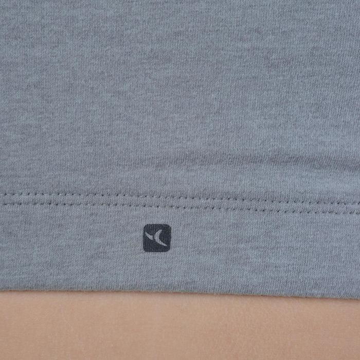 Brassière 500 Gym Fille gris noir - 1194371