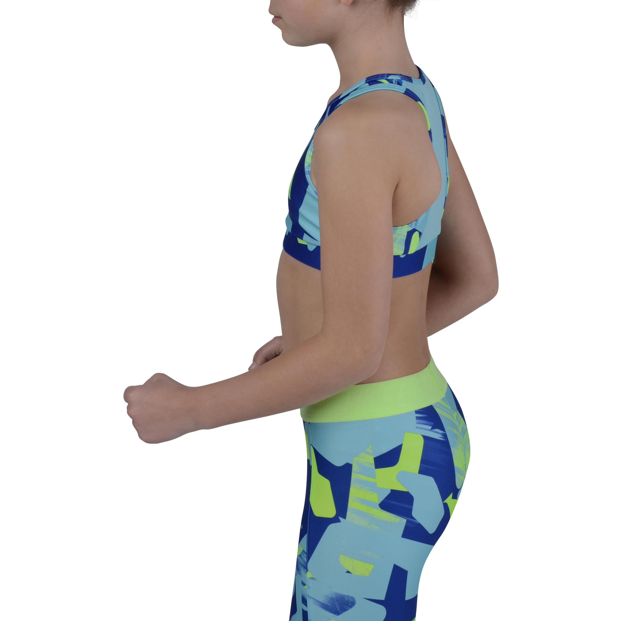 Energy Girls' Gym Crop Top - Blue Print