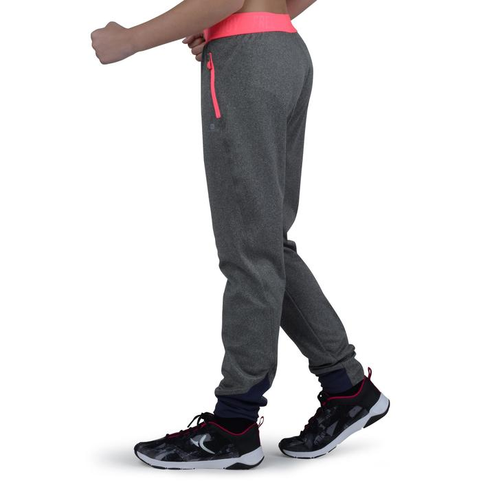 e8ca22a27af9c1 Girls Clothes S900 Girls' Slim-Fit Gym Bottoms - Light Grey - Decathlon