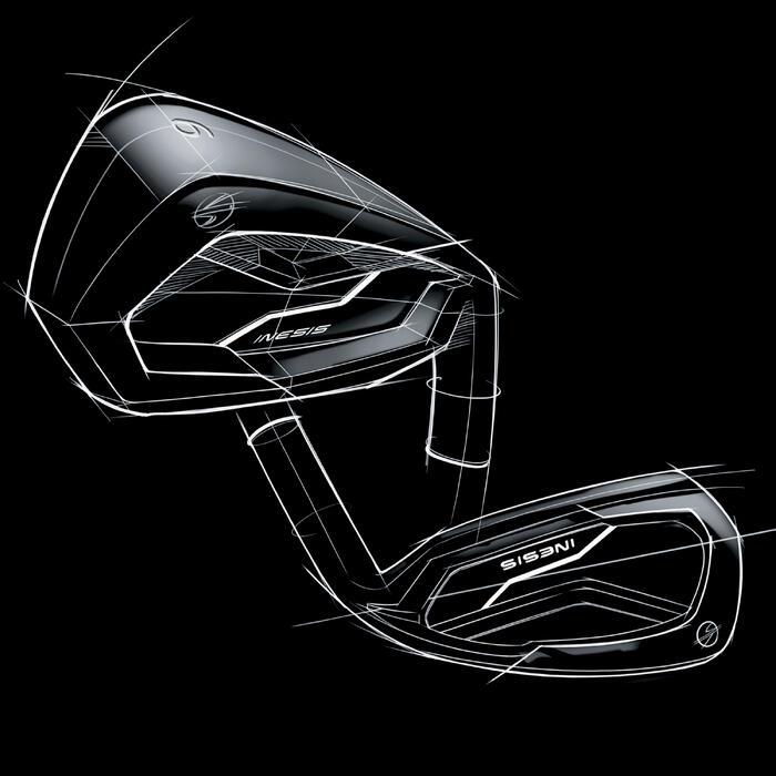 Golfset met 7 clubs linkshandig 500 grafiet maat 2 & lage snelheid