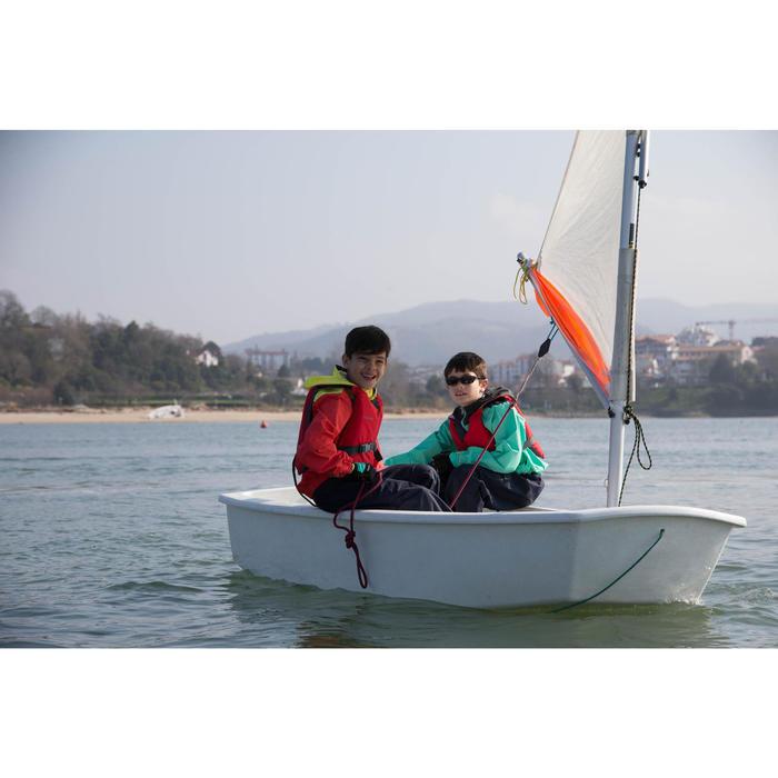 Chaqueta náutica Vareuse cortaviento vela ligera/catamarán niño 100 Azul os/Azul
