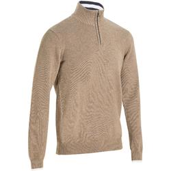 MEN'S BEIGE COLD-WEATHER GOLFING PULLOVER