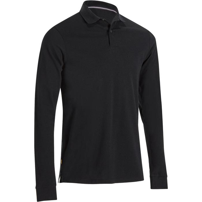 POLO MANCHES LONGUES GOLF HOMME 500 chiné - 1194902