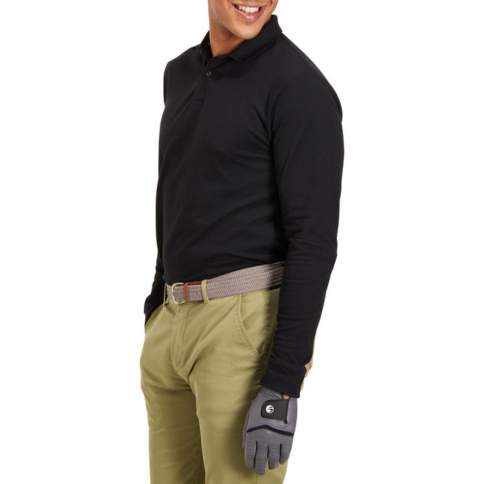 POLO MANCHES LONGUES GOLF HOMME 500 chiné - 1194962