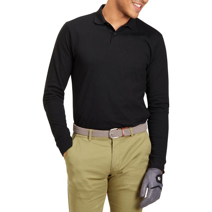POLO MANCHES LONGUES GOLF HOMME 500 chiné - 1194966