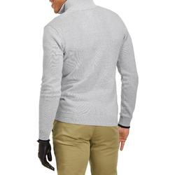 MEN'S LIGHT GREY COLD-WEATHER GOLFING PULLOVER